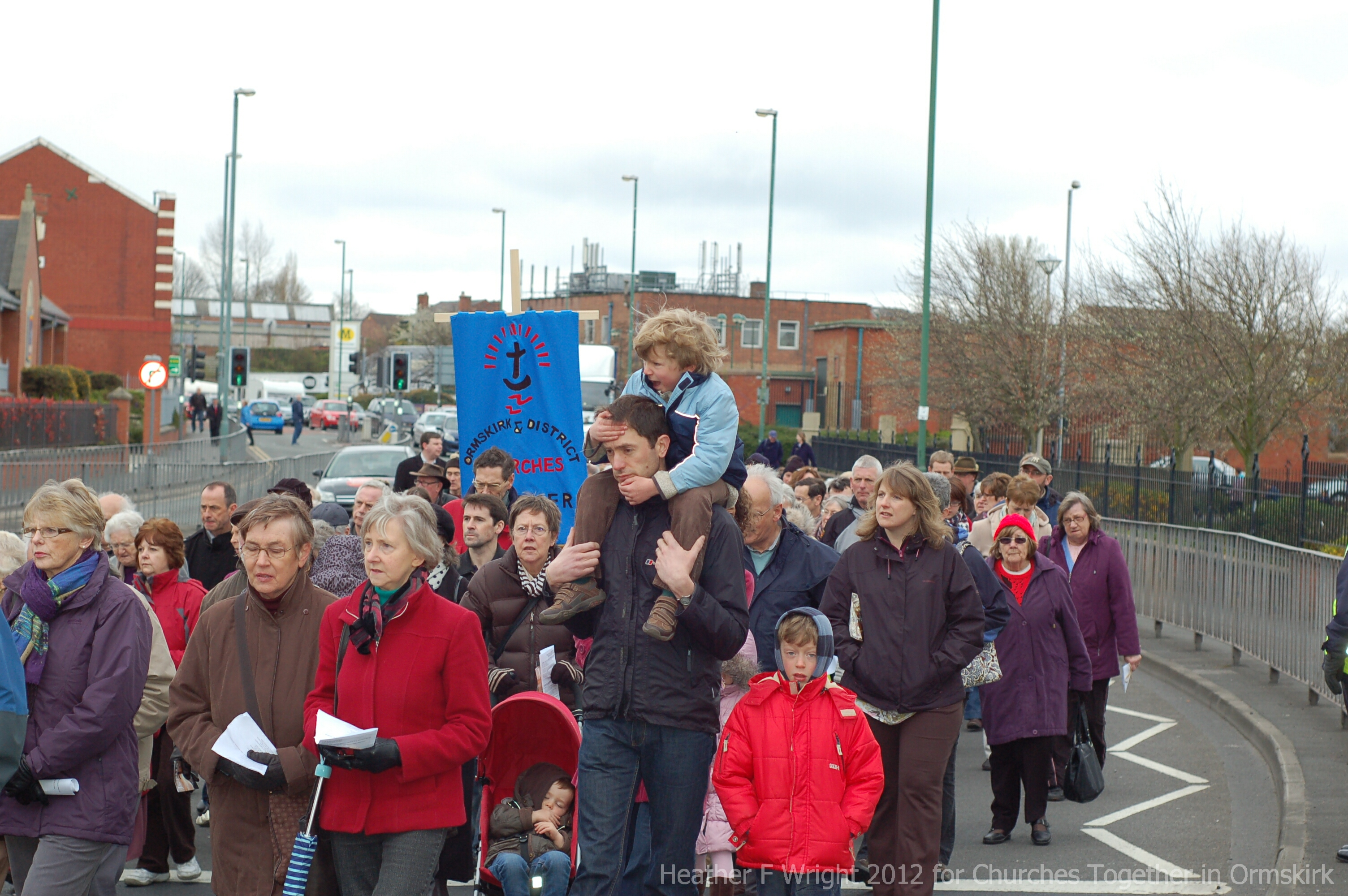 Ormskirk Churches Together Walk of Witness Good Friday 2012