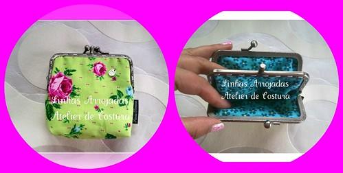 Novo  porta moedas de fecho duplo 2 divisões by ♥Linhas Arrojadas Atelier de costura♥Sonyaxana