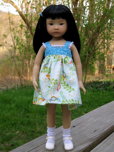 Zoe's new dress by elizabeth's*whimsies