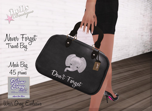 BB-NeverForget Travel Bag-Wear Gray Exclusive