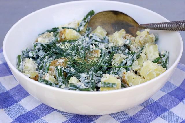 Greenbean, potato salad with lemon dill aioli by Eve Fox, Garden of Eating blog, copyright 2012
