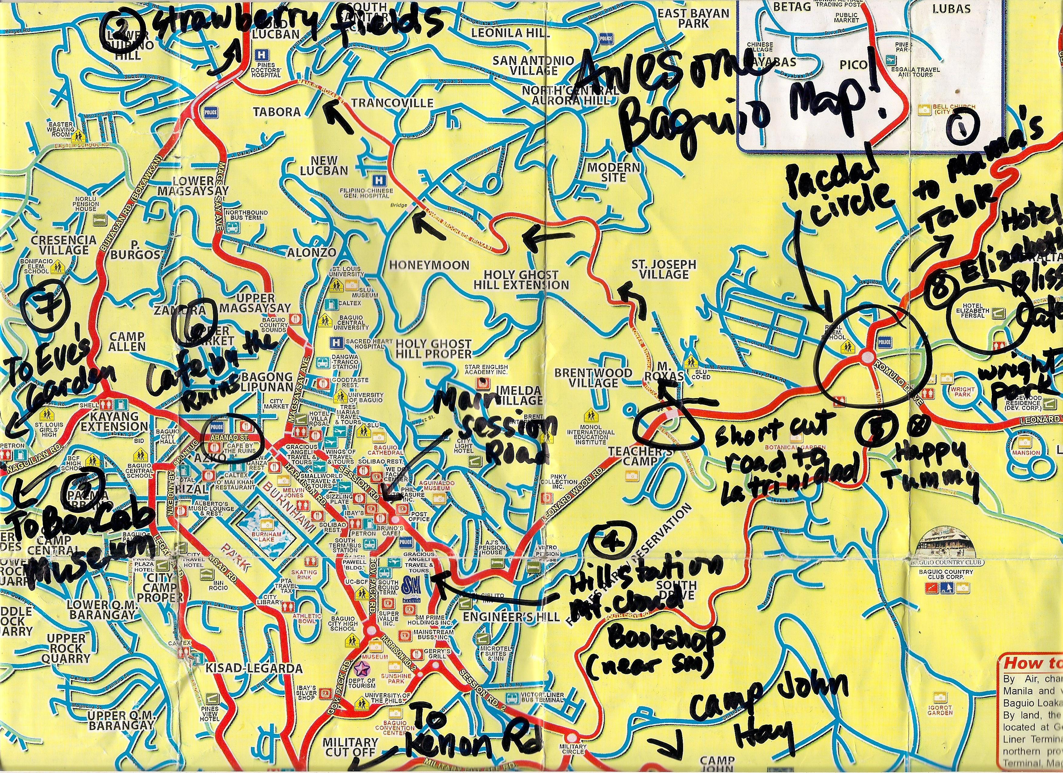 BAGUIO MAP WITH TOURIST SPOTS PDF DOWNLOAD