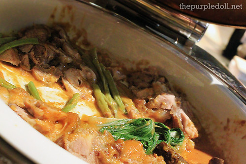 Crispy Pata Kare-Kare with Steamed Local Vegetables