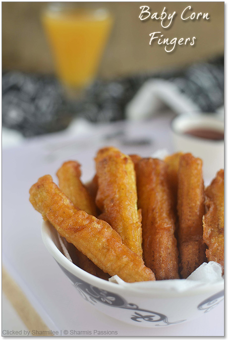 Baby Corn Fingers Recipe