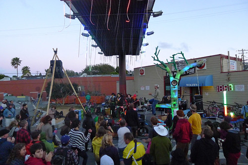human powered stage