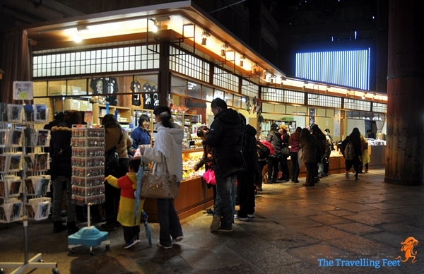 souvenir shops inside the temple