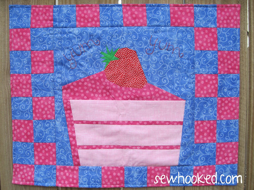 Strawberry Yum Yum placemat by Jennifer Ofenstein