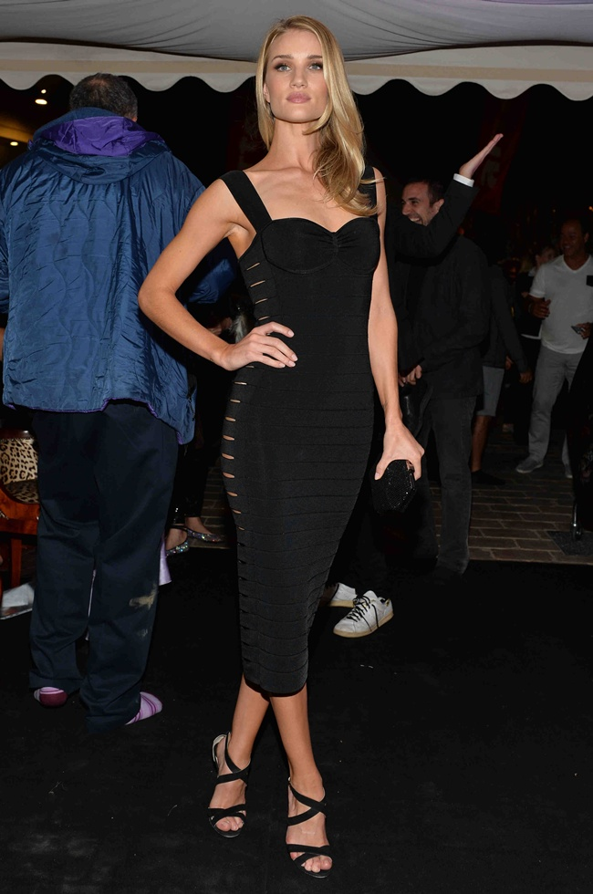 7 Rosie Huntington Whiteley at Roberto Cavalli Dinner Party in Cannes