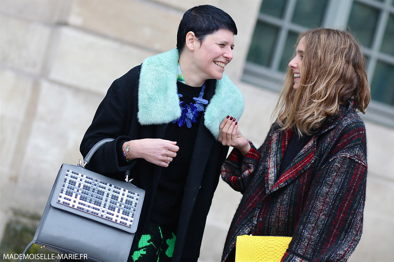 Elisa Nalin and Candela Novembre at Paris fashion week