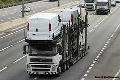 Volvo FM12 380 6x2 Car Transporter - KX55 CSO - Eddie Stobart Automotive - M1 J10 Luton - Steven Gray - IMG_8248
