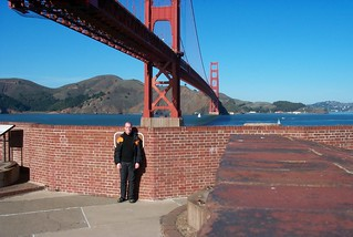 Self-portrait at Fort Point