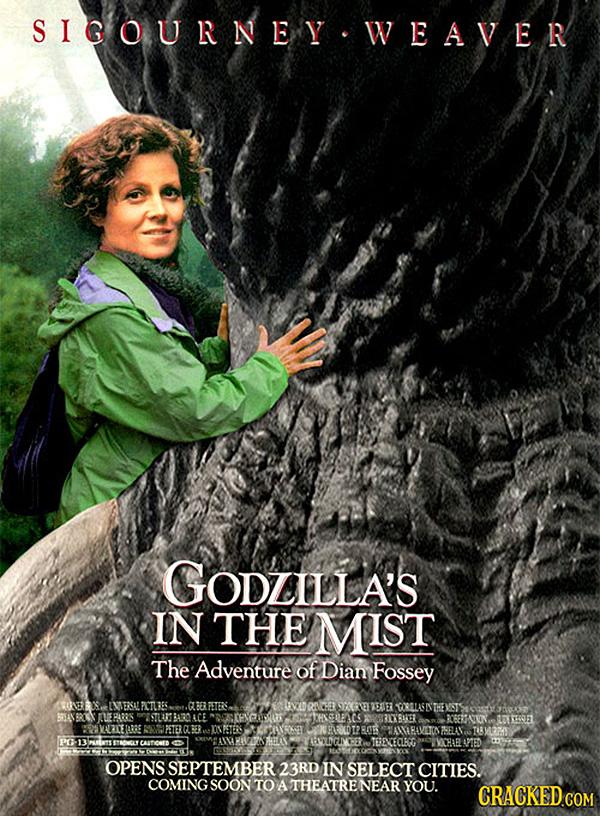 Godzilla em Nas Montanhas dos Gorilas