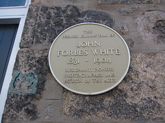 Photo of John Forbes White yellow plaque