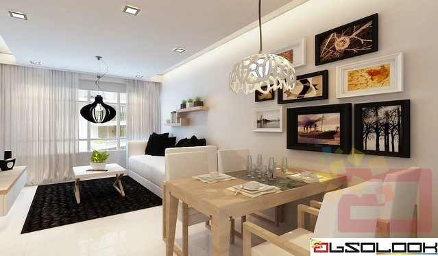 Hdb bto 4 room costa ris with scandinavian theme for 4 room bto design ideas