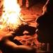 Bushmen by the fire