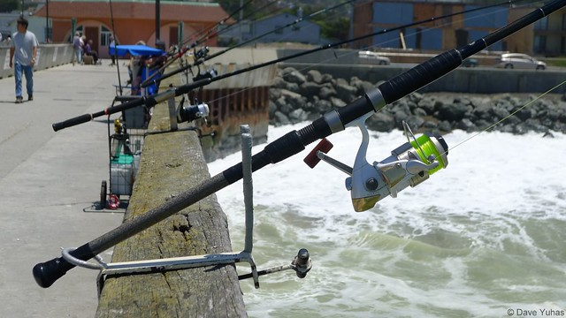 fishing rods pacifica pier flickr photo sharing