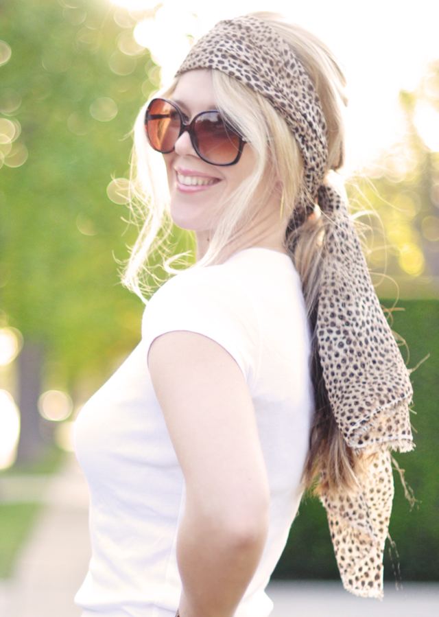leopard head scarf-sunglasses