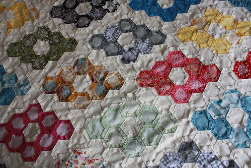 Faster Progress on the Hexagon Quilt
