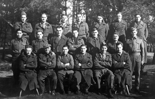British merchant navy POWs. Marlag und Milag Nord POW camp, near Westertimke, Germany.