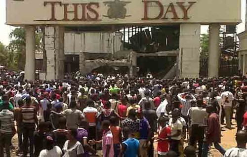 ThisDay newspaper headquarters was hit by an explosion in the West African state of Nigeria. The country has been rocked by sectional violence in the recent period. by Pan-African News Wire File Photos