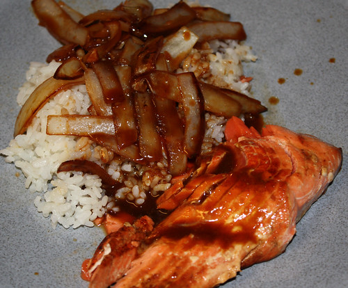 Spicy Honey Soy Glazed Salmon