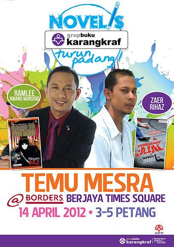 Temu Mesra RAM dan Zaer Rihaz di Borders Berjaya Time Square