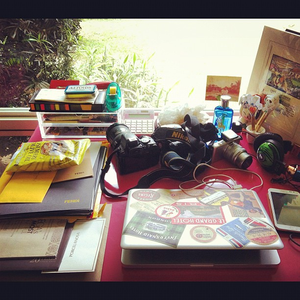 The baghag's desk