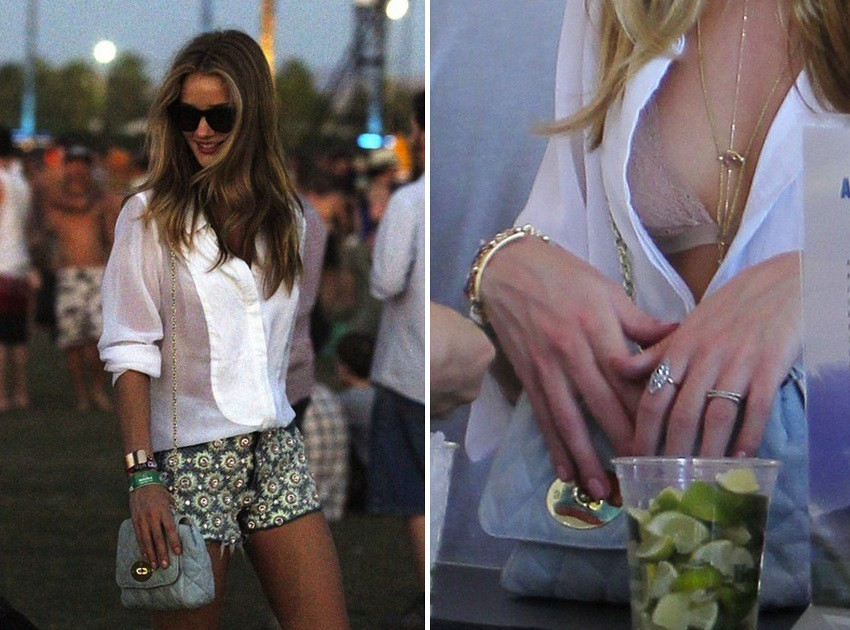 Rosie Huntington Coachella 2