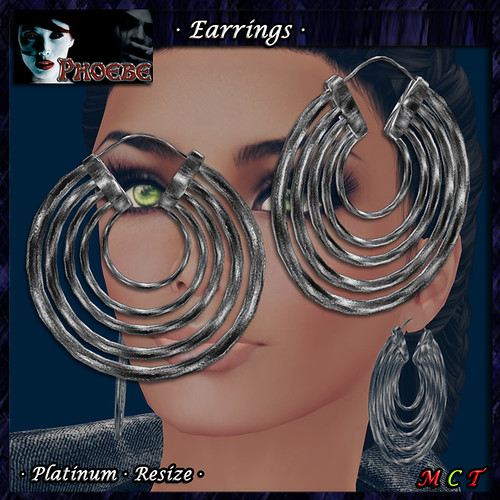 *P* Aysha Earrings ~Platinum~