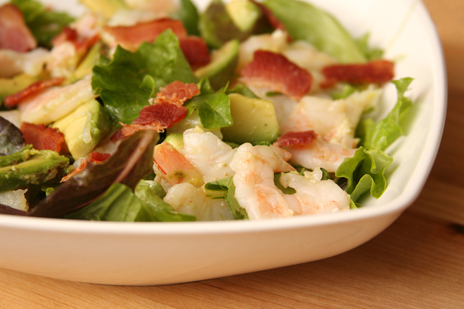 shrimp avocado salad 5