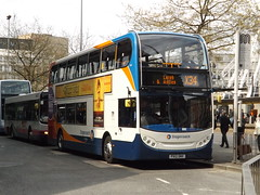 Recently transferred from Morecambe to Wigan, this is ADL Enviro400 10031 PX12DNV operating service X34 (Leigh - Manchester) on 24.04.2014.  By the way, I believe this to be the first picture of 10031 to be taken while in Manchester...