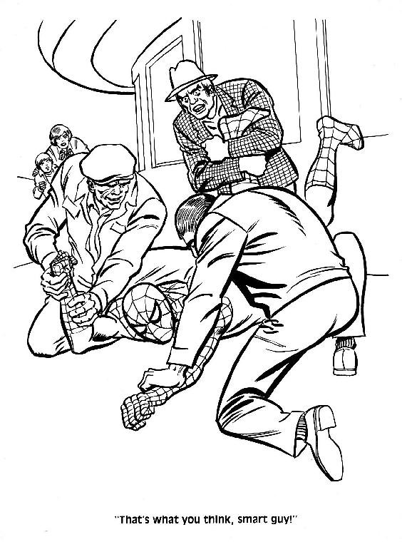 mysterio spiderman coloring pages - photo#14