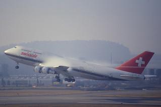 14aq - Swissair Boeing 747-300; HB-IGG@ZRH;15.02.1998