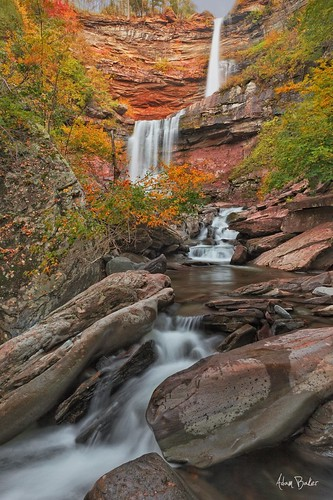 park autumn red orange lake ny green nature creek forest canon waterfall rocks stream long exposure state hiking south north foliage gorge catskills cascade kaaterskillfalls 24105l adambaker 5dmarkii