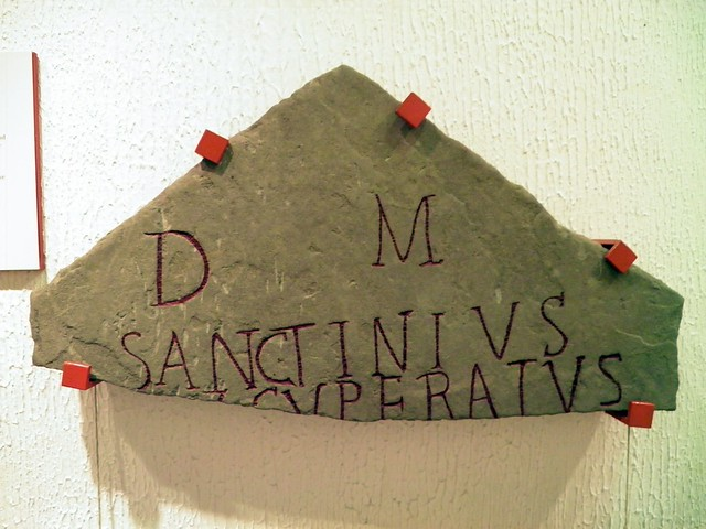 Gravestone of Sanctinius Exsuperatus, National Roman Legion Museum