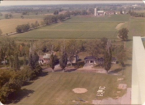 trees houses farms 1960s aerialphotographs