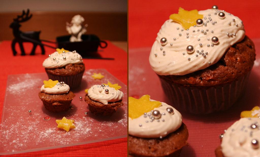 weihnachtliche cupcakes mit äpfeln & feigen-meringue-buttercreme
