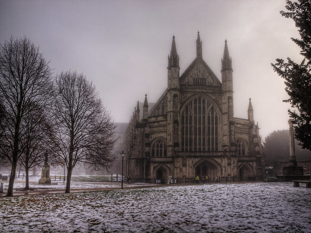 Winchester Cathedral in the Freezing Fog