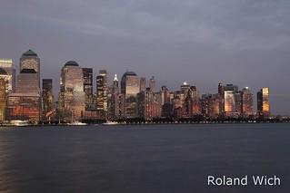 New York - Lower Manhattan at dusk