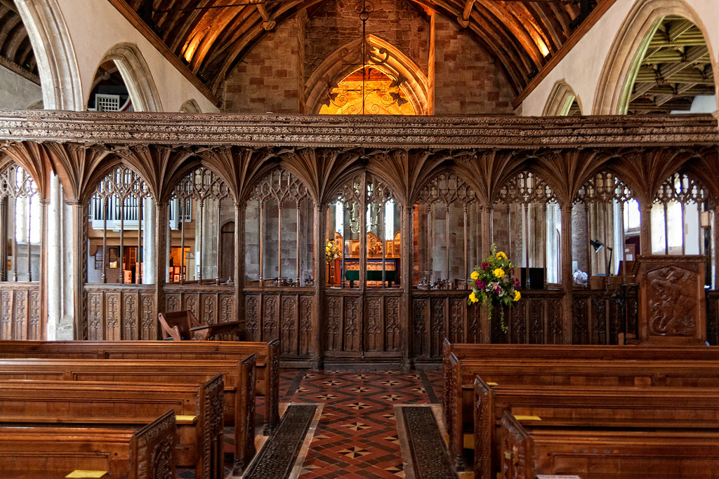 """""""The fine locally carved rood screen is thought to be the longest in Europe, possibly the longest anywhere."""""""