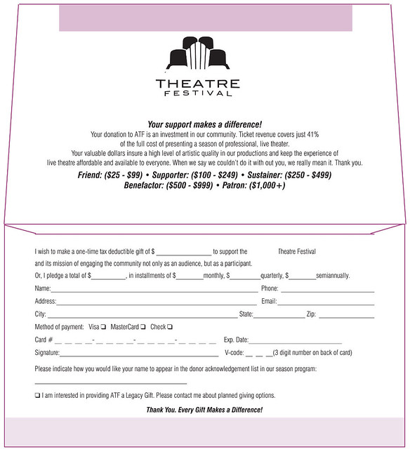 theatre festival donation envelope inside flickr photo sharing. Black Bedroom Furniture Sets. Home Design Ideas
