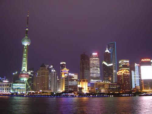 上海外灘看浦東