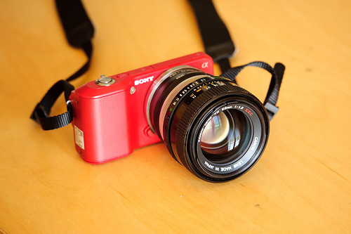 SONY NEX3 with canon 55mm f/1.2
