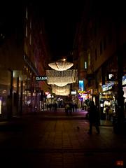 walking under lights