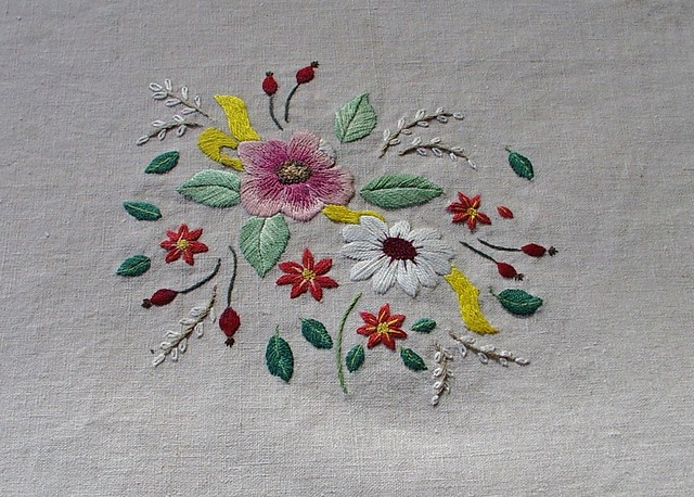 Flowers Hand Embroidered | Flickr - Photo Sharing!