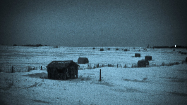 A cold winter night on the prairie