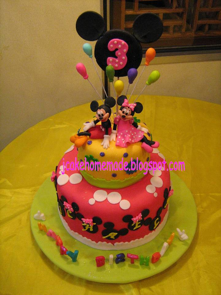 Mickey Mouse And Minnie Birthday Cake