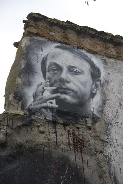 Michel Houellebecq painted portrait _DDC2379