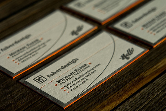 Michael Faber Design's High Quality Business Card