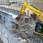 dusty demolition of bridge
